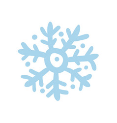 winter snowflake hand drawn isolated icon vector image
