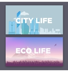 concept of city environment vector image