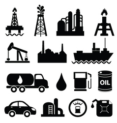 oil and machinary icons vector image vector image