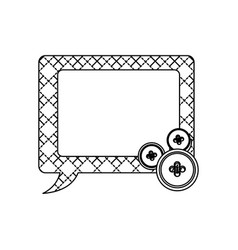 sticker figures square chat bubbles icon vector image vector image