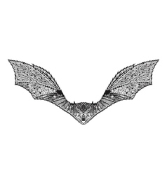 Zentangle stylized bat Sketch for tattoo or t vector image