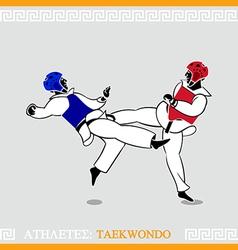 Athlete Taekwondo fighters vector image vector image