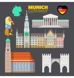 Munich Germany Travel Doodle with Architecture vector image vector image