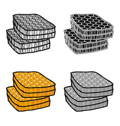 honeycombs icon in cartoon style isolated on white vector image