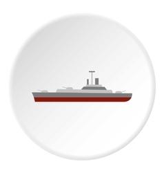 Navy warship icon flat style vector image