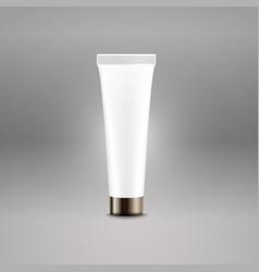 plastic tube advertising template cream bottle vector image vector image
