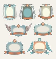 set vintage labels vector image vector image