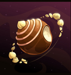 chocolate candy planet vector image vector image
