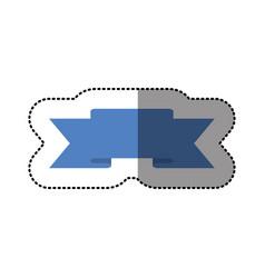 color symbol ribbon icon vector image vector image