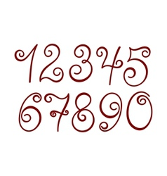 Curly numbers vector