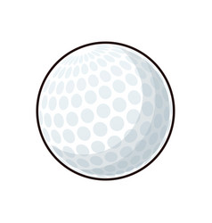 golf ball sport play equipment image vector image