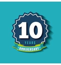 happy anniversary design vector image