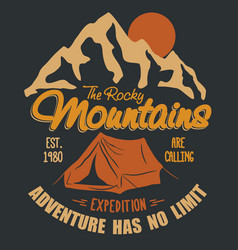 outdoor expedition typography vector image vector image