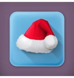 Santa Claus hat flat icon vector image