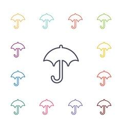 umbrella flat icons set vector image vector image