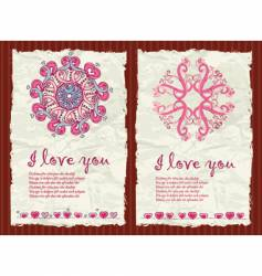 Valentine's Day Grunge Backgrounds 1 vector image
