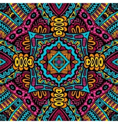 Abstract festive colorful tribal pattern vector image