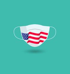 American flag mask design template vector