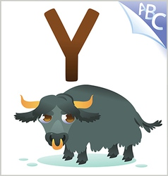 Animal alphabet for the kids Y for the Yak vector