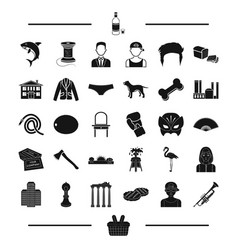 Architecture animal atelier and other web icon vector