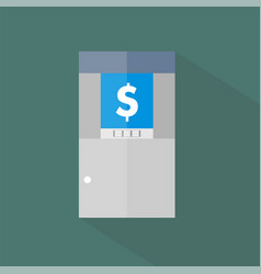 atm icon set of great flat icons with style long vector image