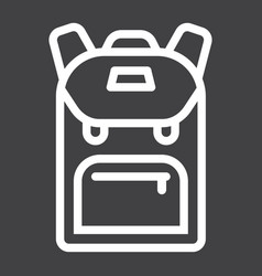 backpack line icon education and school vector image