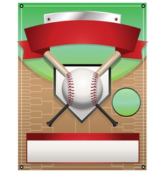 Baseball tournament flyer background vector