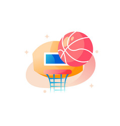 basketball shield with ball vector image