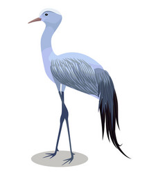 Blue crane cartoon vector