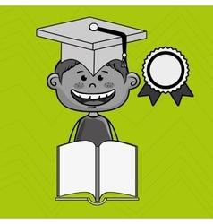 boy student book cap vector image
