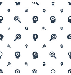 Brain icons pattern seamless white background vector