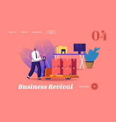 business revival landing page template vector image