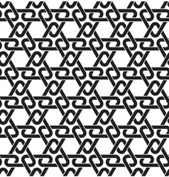 Celtic seamless pattern of black lines vector