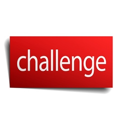 Challenge red paper sign isolated on white vector