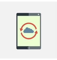 Cloud computing tablet vector image