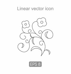 contour icon of a flower vector image
