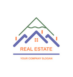 creative logo real estate icon vector image