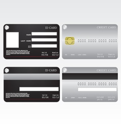 Credit card and id card vector image