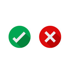 cross and check mark icons vector image