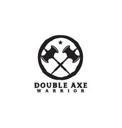 Crossed axes logo icon design template vector