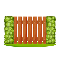 decorative wooden fences vector image