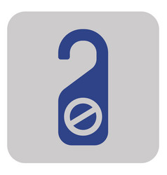Do not disturb door sign vector