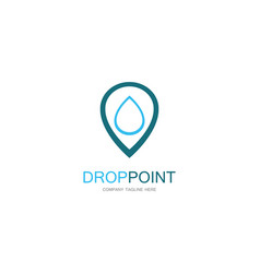 drop point logo vector image