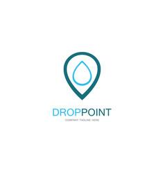 Drop point logo vector