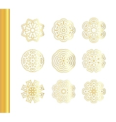 Elegant floral mandala background with gold vector image