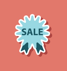 Fashion patch sale sticker label shopping vector