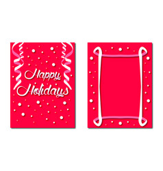 Festive greeting card with wishes of good holidays vector