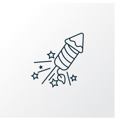 fireworks icon line symbol premium quality vector image