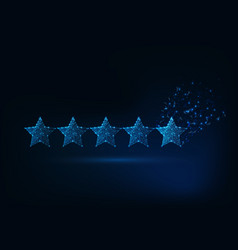 five stars rating concept client satisfaction vector image