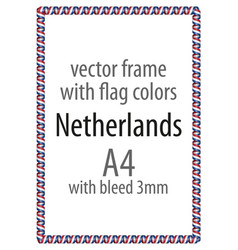 Flag v12 netherlands vector
